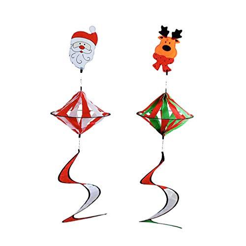 Cabilock Weihnachts-Windspiel zum Aufhängen, 2 Stück