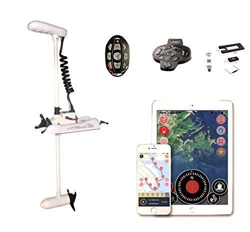 HASWING Anchor Control GPS - W12V 48' Shaft 55lbs Trolling Motor with Wireless Remote For Speed. Adjustable&Portable. Foot Pedal and quick release bracket. Electric Bow Mount For Salt and Freshwater