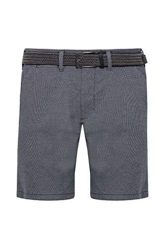 Indicode Lozano Herren Chino Shorts Bermuda Kurze Hose mit Gürtel, Größe:XL, Farbe:Navy (400)