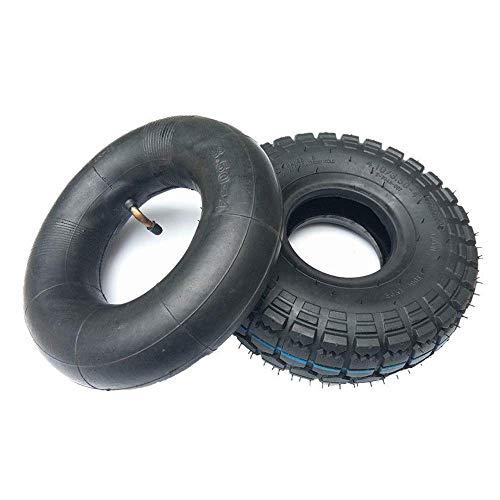 BABYCOW Neumáticos Scooter eléctrico, 4.10-3.50-4 Neumáticos Interiores y Exteriores, Antideslizantes y Resistentes al Desgaste, adecuados 1Reemplazo neumático Scooter Rueda 0 Pulgadas 3-4