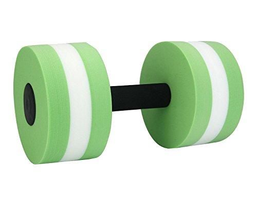 niceEshop(TM) Foam Dumbbells Water Aerobic Exercise Hand Bars Pool Resistance Exercises Equipment,Set of 2,Green