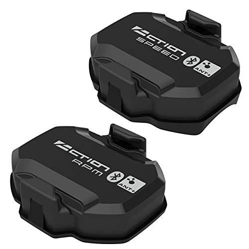 Cuasting Acción Ciclismo Velocidad y Cadencia Sensor ANT+ Velocidad Cadencia Sensor Computer Velocímetro para Bicicleta