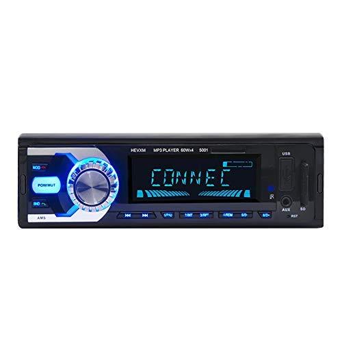Garsent Bluetooth Autoradios, HiFi-Auto Bluetooth AUX Audioeingang 1 Din MP3 Autoradio Unterstützung SD-Karte/MM-Karte/U-Disk mit Fernbedienung Freisprechen Digital Media Player