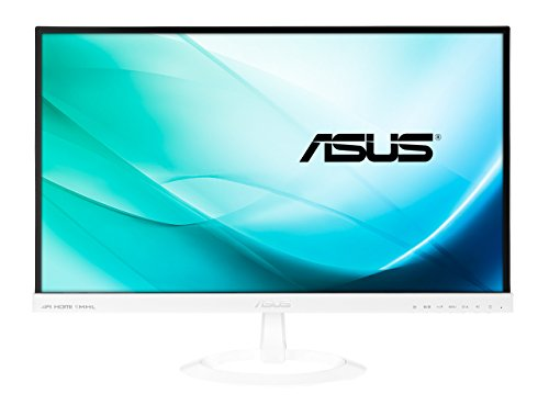 Asus VX239H-W 58,4 cm (23 Zoll) Monitor (Full HD, VGA, HDMI/MHL, 5ms Reaktionszeit) weiß