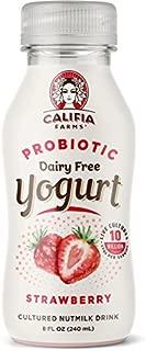 Califia Farms Strawberry Probiotic Drinkable Yogurt, 8 Oz | Dairy Free | Plant Based | Nut Yogurt | Vegan | Non-GMO