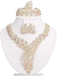 Accessories Set for Women, Necklace and Bracelet, Earring, Ring