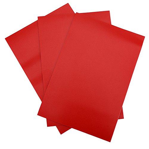 SolUptanisu 6 stuks PVC reparatiepatches kit set opblaasbare boot kano kajak waterdichte reparatie patches accessoires (zwart, rood, grijs optioneel)