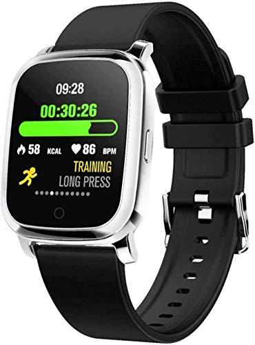 Reloj inteligente de 1,3 pulgadas, esfera de datos de salud y modo de ejercicio, batería de 140 mAh, IPx67, resistente al agua, soporte para ejercicio, datos corporales, color negro, morado, negro