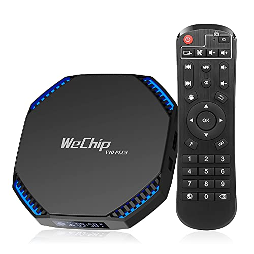 Android TV Box 11, WeChip V10 Plus Android 11.0 8GB RAM 64GB ROM 8K Video Decoding RK3566 2.4G/5GHz Dual Band WiFi 1000M Ethernet BT 4.0 USB 3.0 Smart TV Box