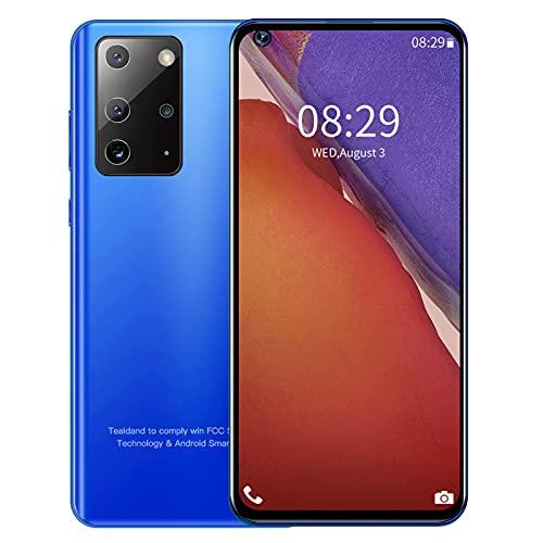 Xiuganpo 6.82In Pantalla Súper Grande Teléfonos Inteligentes Pantalla De Ajuste Completo Teléfono Móvil con Desbloqueo Facial y Potente Procesador, Teléfono Inteligente para La Vida Diaria(Azul)