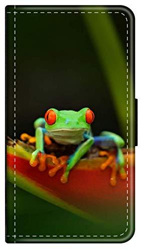 Flip Hülle Dschungel Tiere kompatibel für Samsung Galaxy S8 Frosch Dschungel Handy Hülle Phone Hülle Leder Tasche Klapphülle Brieftasche Etui r& um Schutz Wallet M8