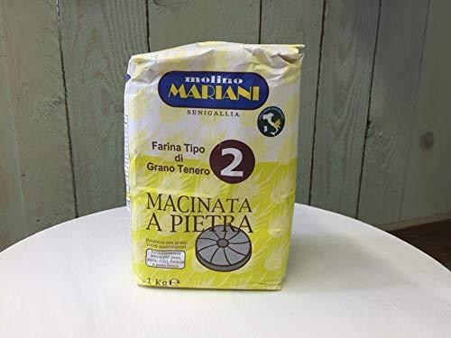 Farina Tipo 2 Macinata Pietra 100% Grano Marchigiano Italiano Alta Digeribilità - Molino Mariani...