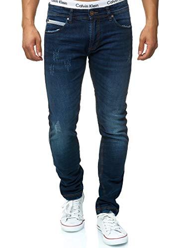 Indicode Heren Waterloo Jeans Gemaakt Van Katoen Met Stretchgehalte | Heren Jeans Destroyed Look Denim Stretch Jeans Broek Heren Broek Regular Fit Straight Men Pants Voor Mannen
