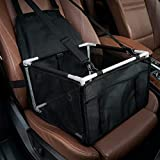 Batebi Dog Booster Car Seat Pet Seats with Reinforced Walls and 3 Fixed Straps, Perfect for Small Pets