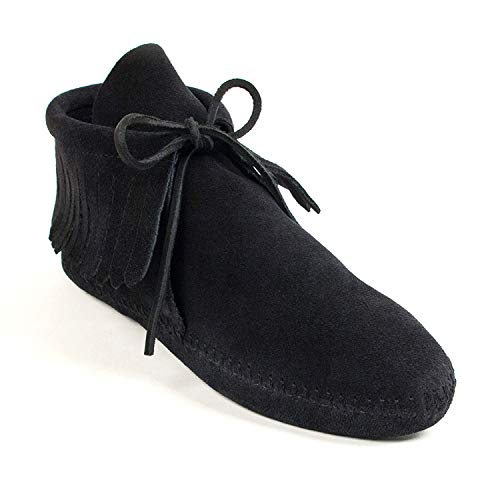 Minnetonka Damen Classic Fringe Boot Mokassin Stiefel, Softsole Black, 39 EU
