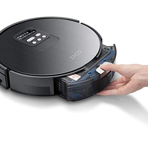 ZACO V85 Saugroboter mit Wischfunktion, App & Alexa Steuerung, 8cm flach, automatischer Staubsauger Roboter, 2in1 Wischen oder Staubsaugen, für Hartböden, Fallschutz, mit Ladestation - 9