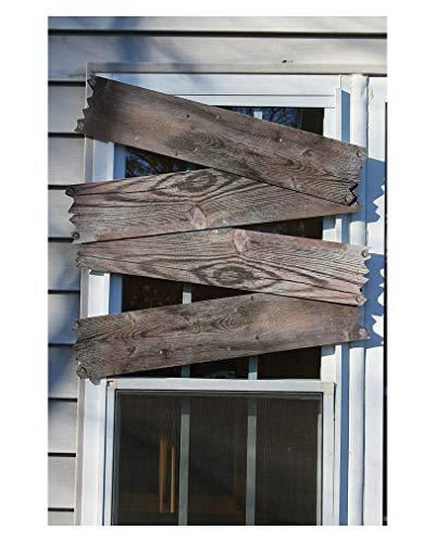 Horror-Shop 4 Stück antike Geisterhaus Bretter zum vernageln der Türen & Fenster