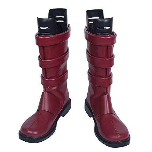 Boku no Hero Academia Eijiro Kirishima Halloween Cosplay Shoes Boots S008 (Female US 8/EU39) Red