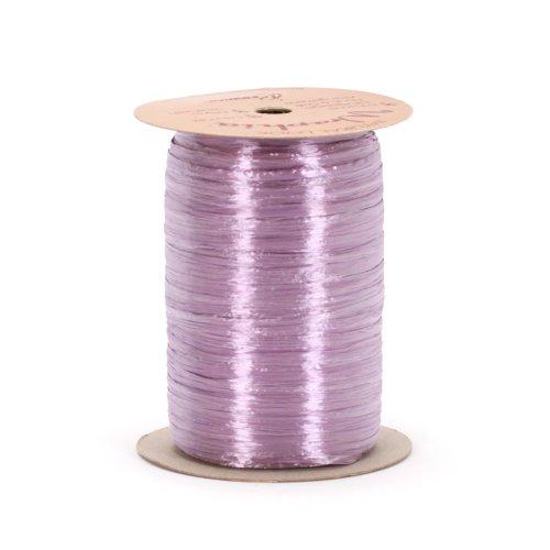 Berwick Offray 1/4'' Wide Pearlized Raffia Ribbon, Lavender Purple, 100 Yards