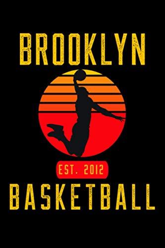 Brooklyn Basketball: Retro Sunset Basketball Player Notepad Gift Idea