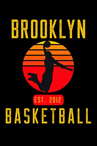 Brooklyn Basketball: Retro Sunset Basketball Player Notepad Gift Idea