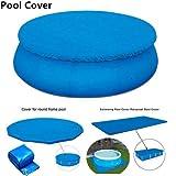 Cubierta para alberca de 1,8 m de diámetro, cubierta resistente al polvo para piscina, cubierta impermeable para alberca redonda sobre el suelo