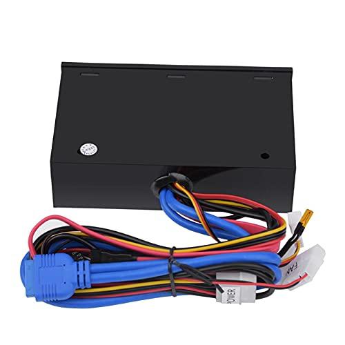 Gugxiom 5.25, Pantalla LCD Conexiones de Cables Frontales USB 3.0 Tablero Multimedia Plástico Negro 5.25 Pulgadas Tablero Multimedia Conveniencia para M2 / TF / / / MS/CF (