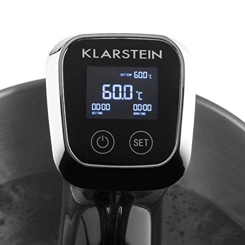 KLARSTEIN Quickstick Set roner circolatore ad immersione per la cottura sous vide/sottovuoto + Macchina sottovuoto (1300 Watt, 20 litri, termostato, timer, regolazione temperatura, display)