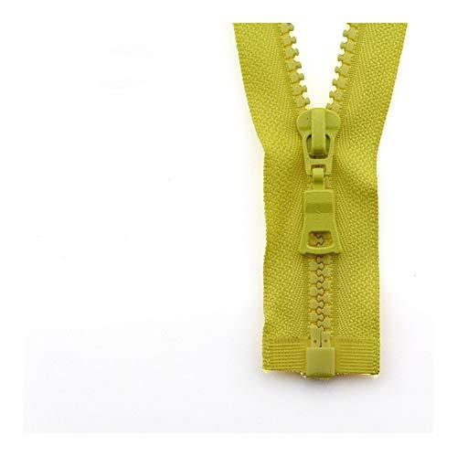 Linyuex Zipper 5# 3pcs Open-end Auto Lock ECO Colorful Plastic Resin Zipper For Clothes Garment (Color : 14, Size : 55 cm)