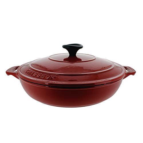 Chasseur 1.8-quart Red French Enameled Cast Iron 1.8-quart Braiser With Lid