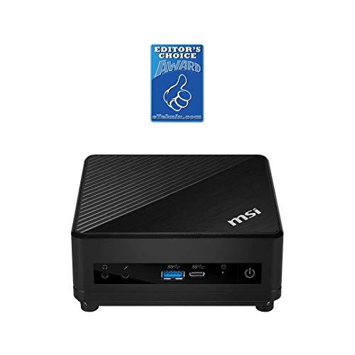 MSI Cubi 5 10M-008BEU - Mini PC Barebone (Intel Core i5-10210U, fino a 64 GB di RAM, 1 SSD M.2 e 1 hard disk da 2,5', WLAN 802.11ac 1x1, Bluetooth 5, ventola silenziosa)