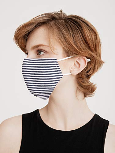 Paisie Unisex Reusable Washable Breathable Non-Surgical Cotton Face Mask/Face Cover, with Filter Option, Adjustable Nose Strip and Ear Loops, Black, Navy, Red, Blue, Purple, Pink.