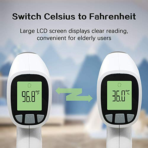 Olangda Forehead Thermometer for Adults, (Without Batteries), Non Contact Thermometers, Digital Thermometer with Instant Readings