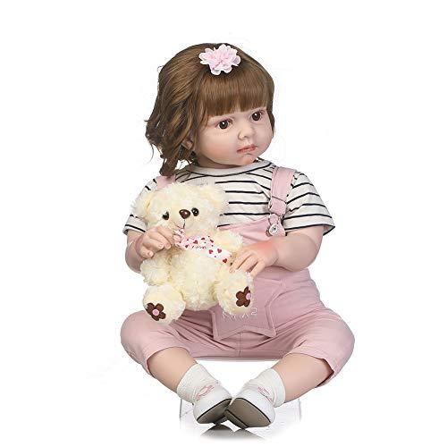 28 Pulgadas 70 cm Real Silicona Vinilo Muñecas Reborn Bebe Baby Doll Ojos Abiertos Magnetismo Juguetes Regalos, El Cuerpo Está Relleno De Algodón PP, Ropa Infantil Modelo Bebé,B