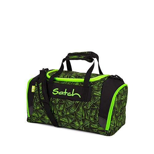 Satch Sporttasche - 25l, Schuhfach, gepolsterte Schultergurte - Green Bermuda - Black