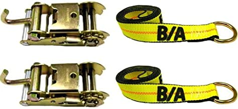 BA Products 38-10A-38-1-x2, Set of 2 Straps & Ratchet with Finger Hook for Wheel Lift