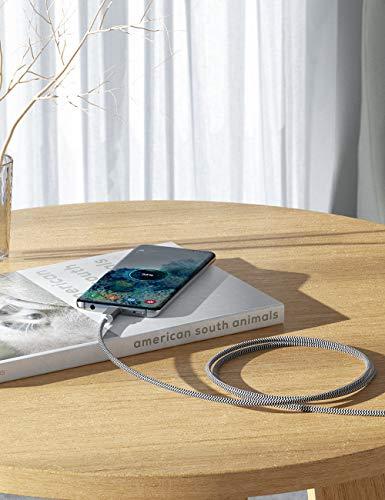Micro USB Kabel, 2Pack 3M Micro USB Ladekabel USB 2.0 Nylon Geflochtenes High Speed Sync und Schnellladekabel für Samsung Galaxy S6 S7 Note,Nexus,HTC,LG,Nokia,Kindle und mehr Android Gerät (2Pack-3M)