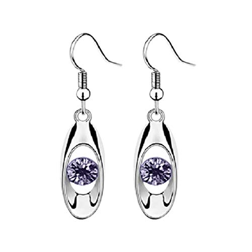 Richo Pendientes colgantes con forma de gota de cristal, pendientes de aro con forma de lágrima para mujer, con circonitas cúbicas, los mejores regalos de joyería