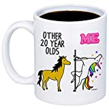 MyCozyCups 20th Birthday Gift - Other 20 Year Olds Me Unicorn Coffee Mug - Funny 11oz Cup For Girlfriend, Sister, Daughter, Women, Her - Happy Twentieth Birthday Gift - Born In 1999, 1998, 2000