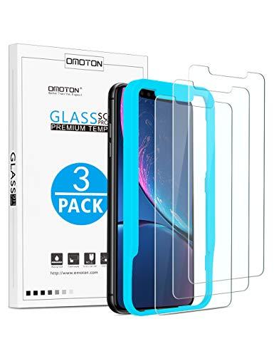 OMOTON [3 Stück] Panzerglas Schutzfolie für iPhone 11 und iPhone XR, 6.1 Zoll,[9H Härte], [Anti-Kratzen], [Anti-Öl], [Anti-Bläschen].