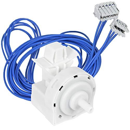 Spares2go - Interruptor de presión lineal + cables para lavadora Indesit