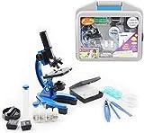 YELVQI Microscopios Niños Microscopio Set, 100X-600X-1200X con el Metal del Brazo y el pie, for el niño Experimental de Aprendizaje Exploración de Biología, 2 (Color : 2)