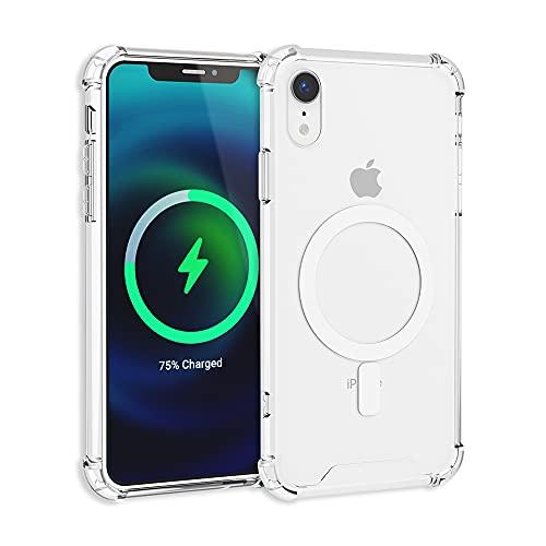 TORU MX SLIM Funda Magnética Transparente Diseñada para iPhone Xr (2018) – Carcasa Protectora, Diseñada para cargadores...
