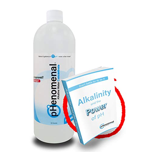 Phenomenal Alkaline Water Concentrate 32oz, Makes 8 Gallons of 11pH+, Original/Tasteless