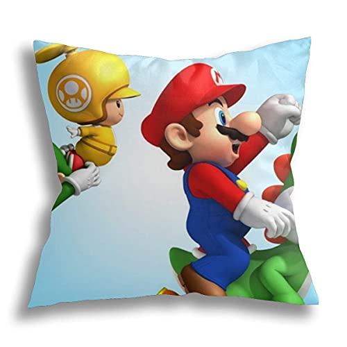 Super Mario Almohada de espuma viscoelástica ortopédica para dolor de cuello, almohada ergonómica para dormir de espalda y dormir de estómago