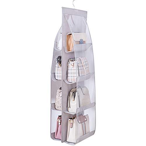 Sayiant Handtaschen-Organizer mit 8 Taschen, Aufbewahrungstasche aus Oxford-Stoff, transparent, platzsparend, staubdicht