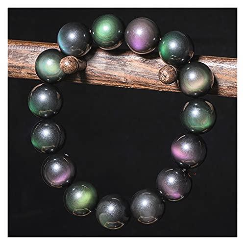 Genuino 6-20mm de color natural de color obsidiano gemas de obsidiana pulsera pulsera joyería accesorios de moda tallado amuleto regalos para sus mujeres malvados espíritus dinero dibujo riqueza fortu