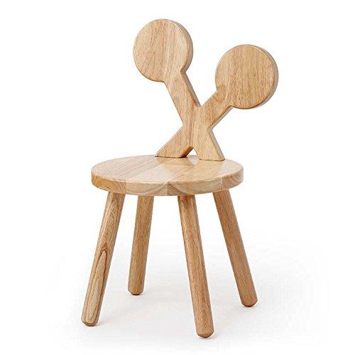 Massivholz-Hocker, Karikatur-Baby-Stuhl Hocker mit Rückenlehne Polster Fuß Hocker Barhocker for Küchen/Home (Color : B)