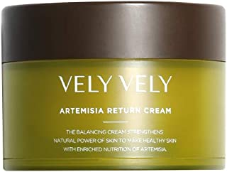 VELY VELY Artemisia Return Cream - Anti-Aging, Youthful Radiance, Healthy Glow, Suppleness Calming, Hydrating, Squalene, Suitable for All Skin Types (50 ml/1.69 fl oz)