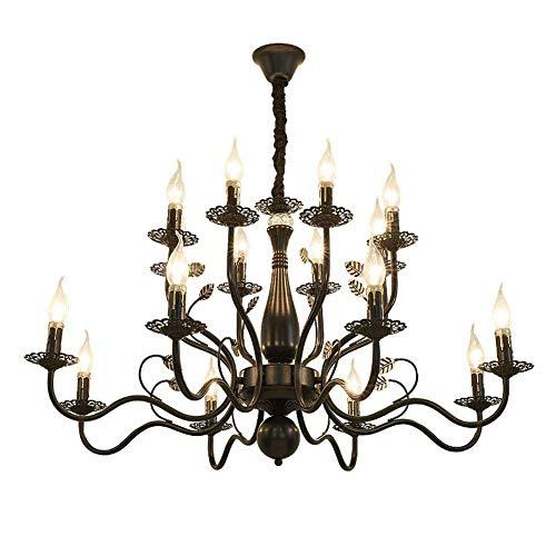Luces de iluminación de techo Candelabros antiguos clásicos, Lámpara de metal tradicional para sala de estar Comedor Luminaria de techo de altura ajustable
